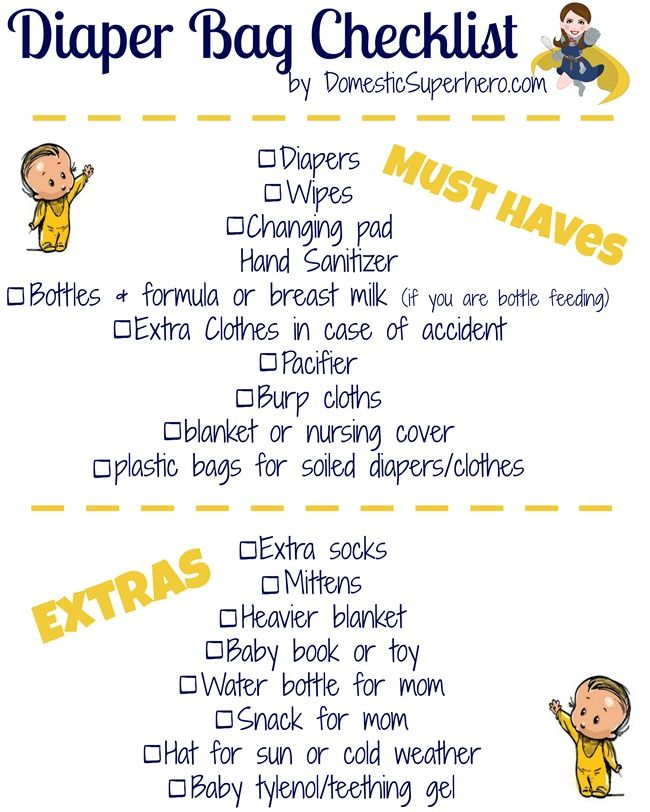 Best 25+ Diaper bag checklist ideas on Pinterest Diaper bag list - newborn checklist