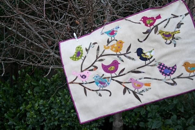 Quilted Bird wall art Tutorial