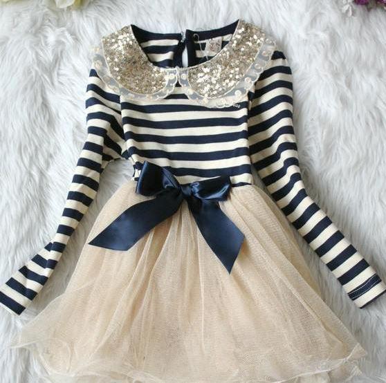 Candy Canes Stripe Christmas Dress Navy Blue for Toddler Girls Navy Blue Stripe Dress Girl
