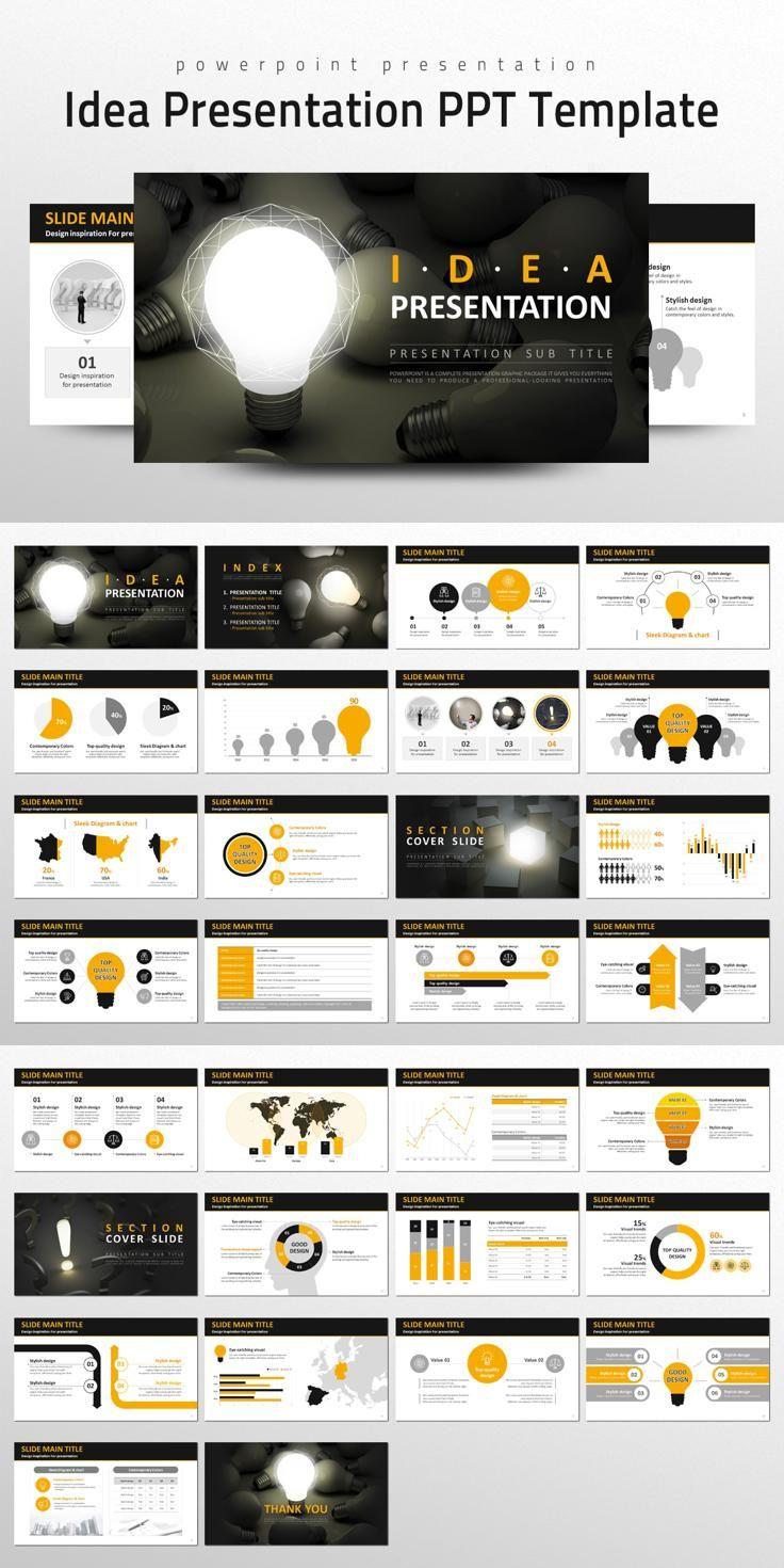 #presentation #template from Good Pello | DOWNLOAD: https://creativemarket.com/alecwang1103/727084-Idea-Presentation-PPT-Template?u=zsoltczigler