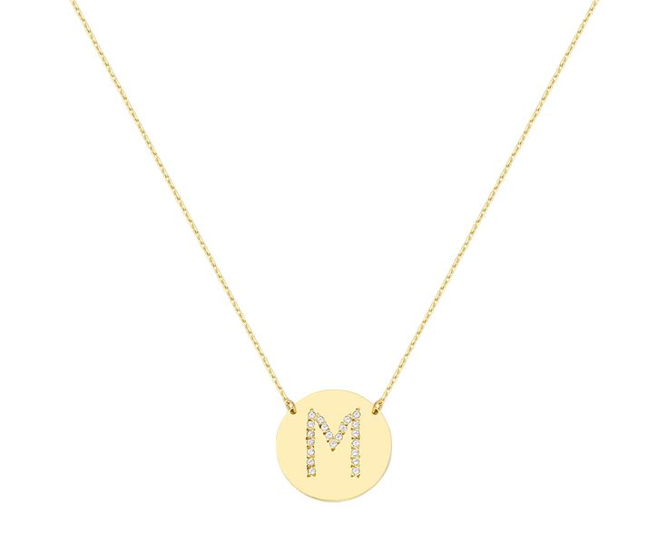 which is your first letter? gold necklace in 14k