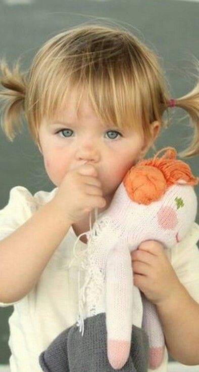Cute baby doll with sweet doll