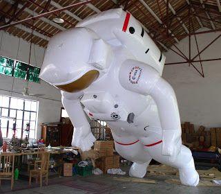 Helium Ballonnen.: Helium Opblaasbare Astronaut ESA