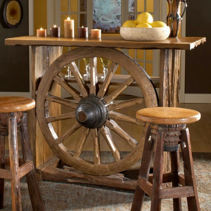 Wagon wheel table r stico pinterest wagon wheel for West out of best ideas