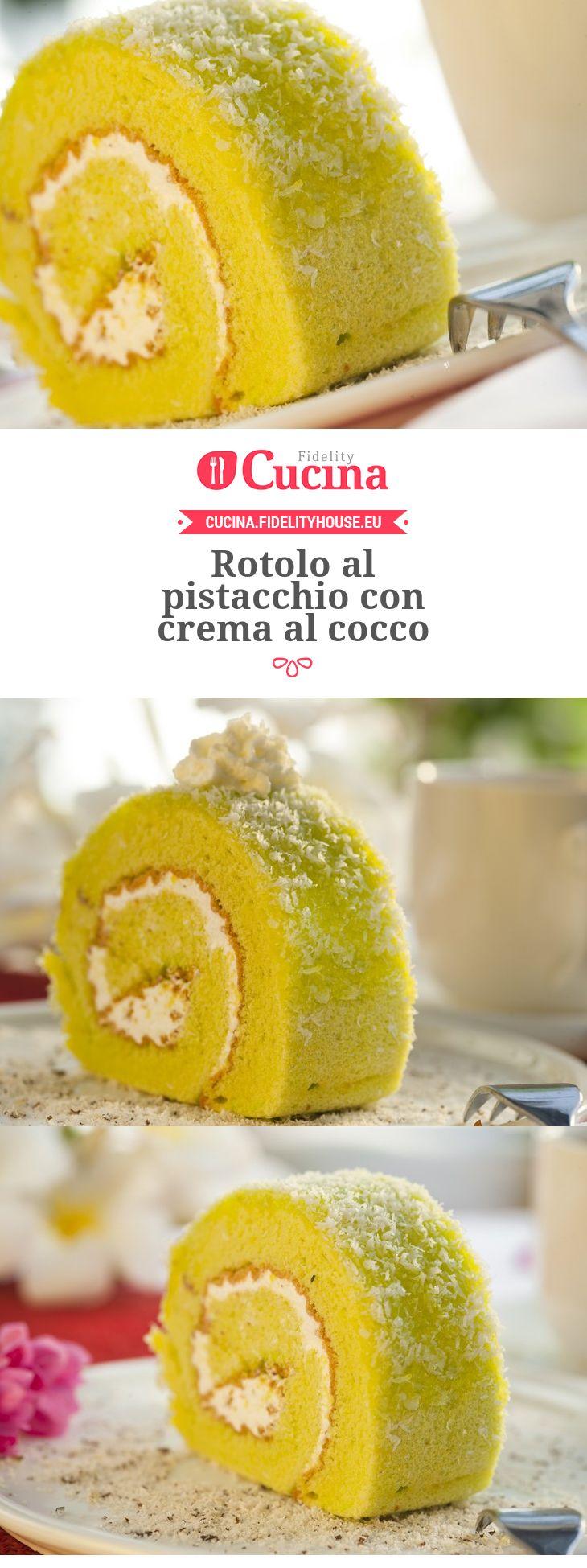 Rotolo al #pistacchio con crema al #cocco