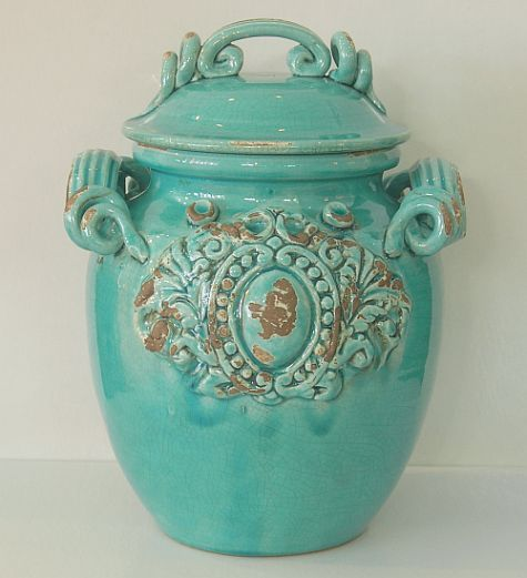 Italian Style Ceramic Biscotti Hand Painted Jar From China