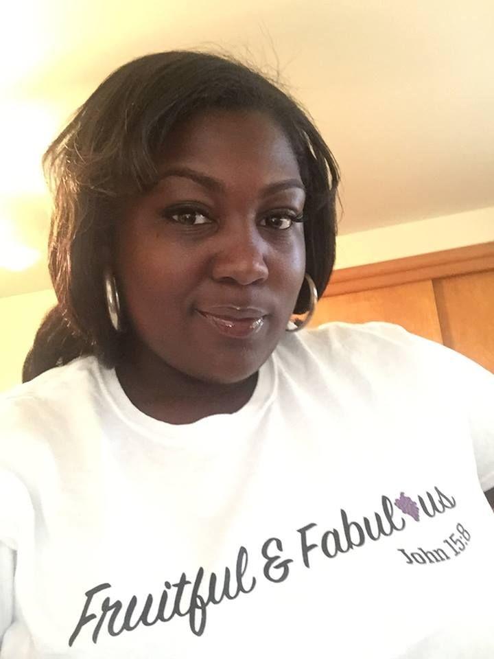 She is fruitful & fabulous! 1st Place Runner Up to 2015 Miss Voluptuous Diva, Barbara, rocking our Fruitful & Fabulous logo shirt!
