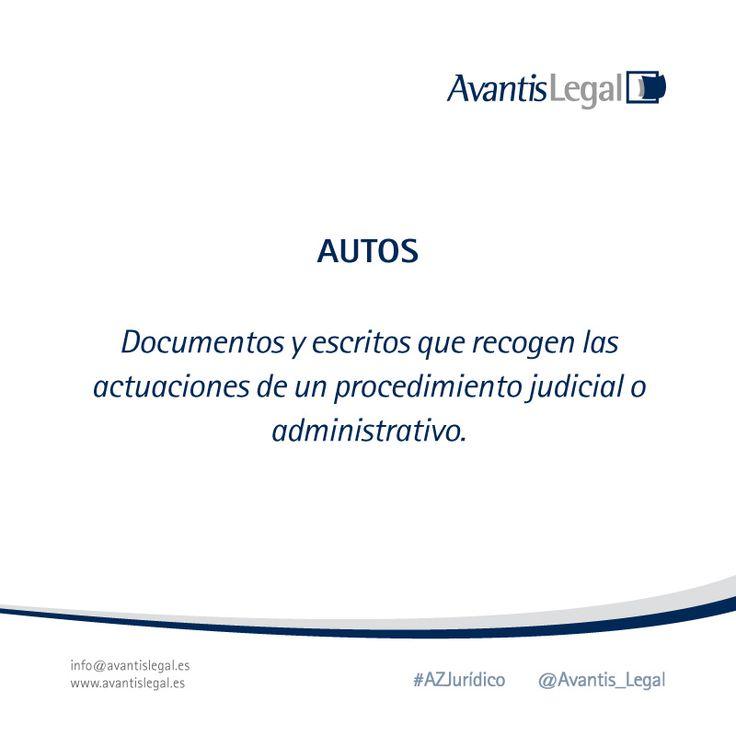 """""""Autos"""" es el término jurídico elegido para el día de hoy en nuestro #AzJurídico"""