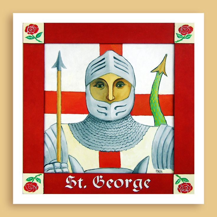 Saint George - Patron Saint of England - print or cards by PrintGems on Etsy