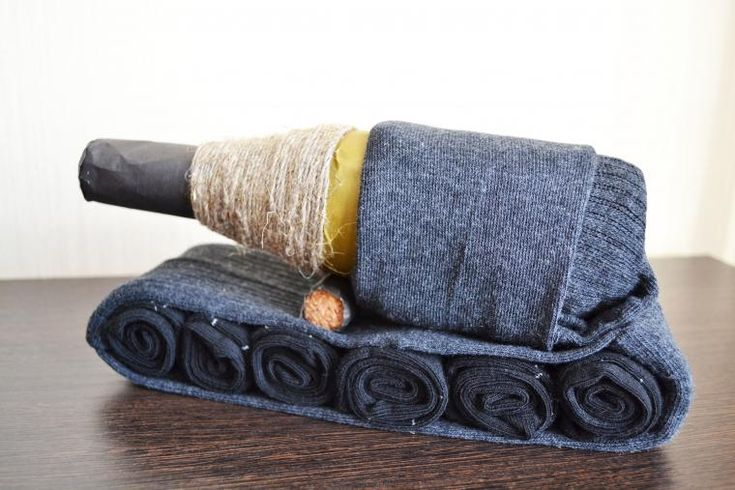 Делаем оригинальный подарок мужу — танк из носков - Ярмарка Мастеров - ручная работа, handmade