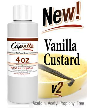 Capella Vanilla Custard V2 -  118 ml  (4oz) UK