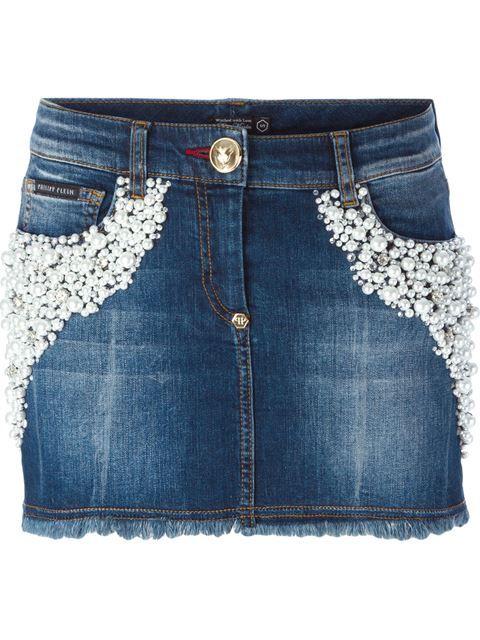 джинсовая юбка мини 'Luxus'