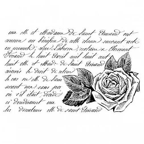 natvorenie / razítko Rose with words