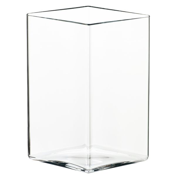 Ruutu vase 205x270 mm, clear, by Iittala. Design by Ronan and Erwan Bouroullec.