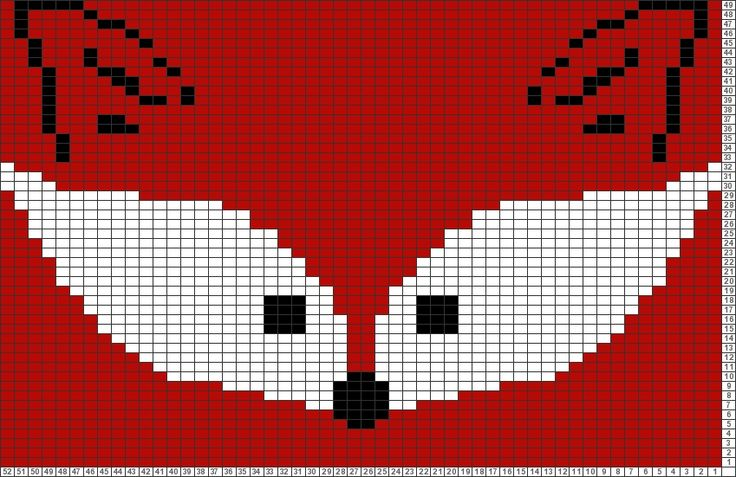 Tricksy Knitter Charts: Fox face by Sandra