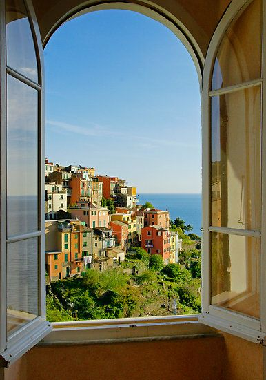 'Out the Window' by Harry Oldmeadow ... Comiglia, Cinque Terre, Italy