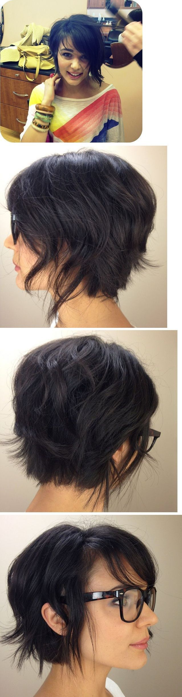 """7ca8232084c18ff802fb01d4e2f1c66d.jpg (639×2445) [ """"Pixie Short Hair Styles Back Pictures.I kinda love this one"""", """"29 Hairstyling Hacks Every Girl Should Know"""", """"In-between style while growing out my hair"""", """"Love this but not the longer piece in the front"""", """"Need a curling iron"""", """"Love this style, just need to go back to make it a bit shorter next time!"""", """"long pixie cut but with blonde highlights"""", """"& 24 would be great for my hair!"""", """"unsure if this would work on me though.""""..."""