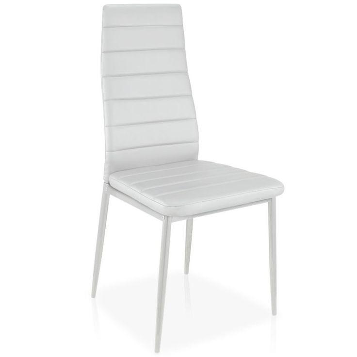 Lote de cuatro sillas Stratus blancas