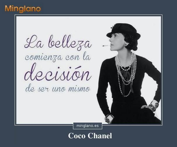 Frase De Coco Chanel Sobre La Belleza Belleza