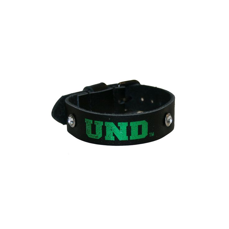 Women's North Dakota Fighting Hawks Foil Print Bracelet, Black