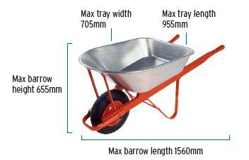 The Tradesman 100 litre Galvanised dimensions