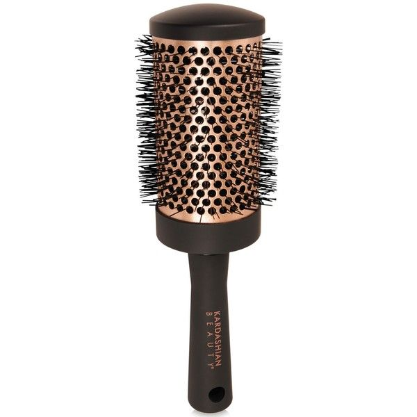 Kardashian Beauty Large Round brush ($14) ❤ liked on Polyvore featuring beauty products, haircare, hair styling tools, brushes & combs, hair brush, round brush and barrel brush