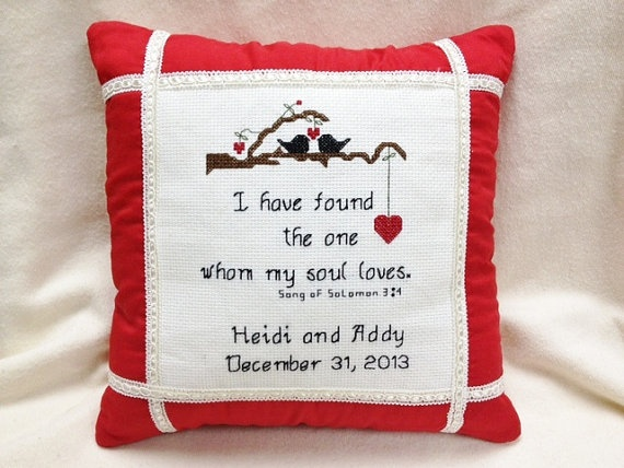 Personalized Wedding Pillow/Ring Bearer Pillow by homecrafting, $22.50