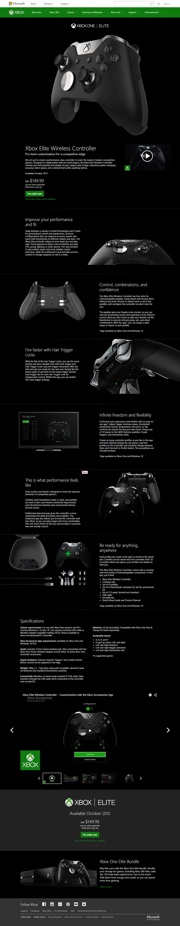 Xbox Elite Wireless Controller Josh thinks he is getting this but he is not. He already has 2 controllers:)                                                                                                                                                                                 More