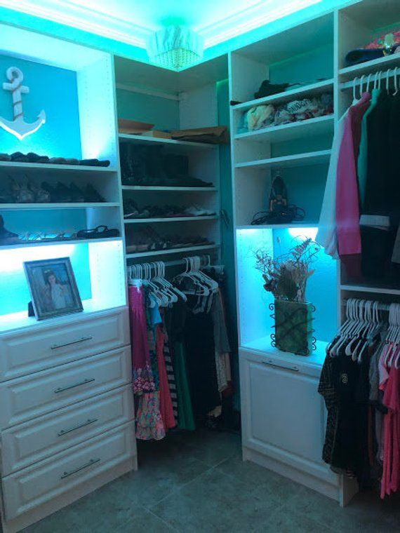 Bluetooth Controlled Closet, Cabinet & Storage LED Lights, with 16 million Colors and Motion Options ***You Choose Power your Supply