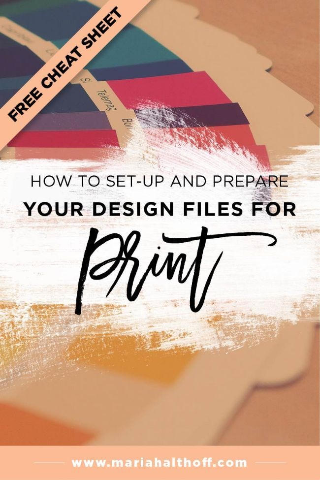 How To Set Up And Prepare Your Design Files For Print Graphic