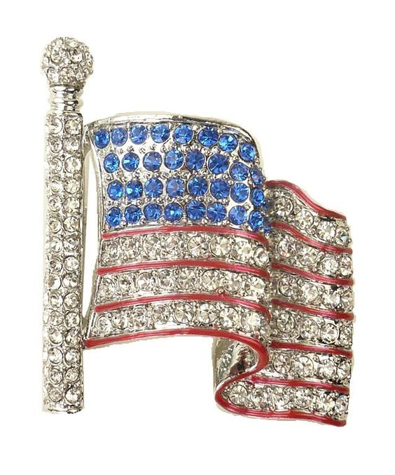 For Love of Country 'American Flag Waving' Rhinestone Pin Brooch -- You can find out valentines gift ideas at the link of the image.