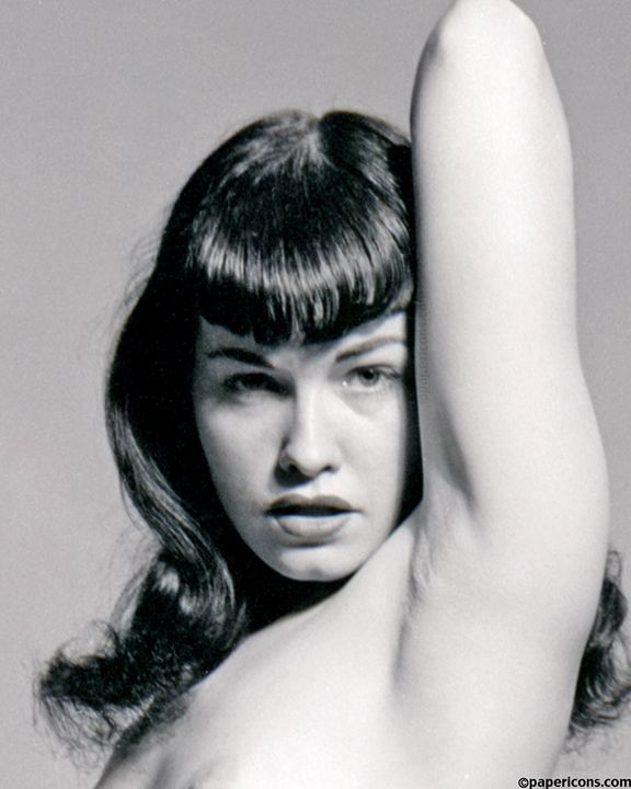 Bettie Page 1950s Pinup Queen Close Up Study 3 169 Papericons