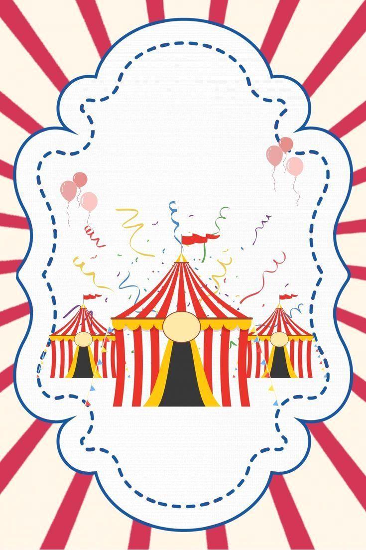Cartoon Carnival Circus Entertainment Background ...