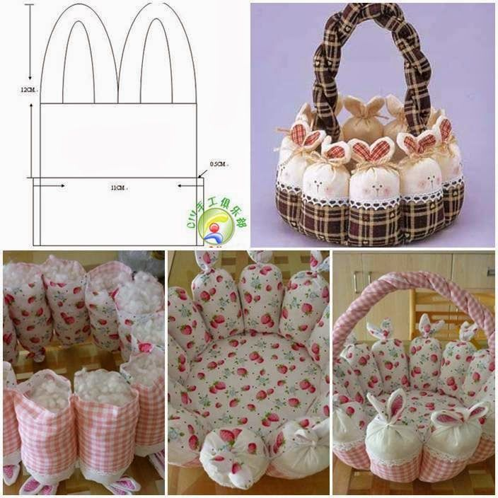384 best holidays easter basket treat ideas images on pinterest ideas products diy cute easter bunny basket negle Gallery