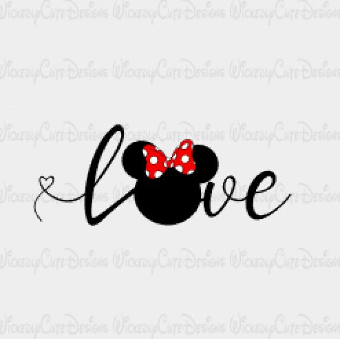 Download Minnie Love SVG, DXF, EPS, PNG Digital File in 2020 ...