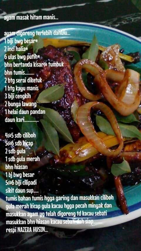 Ayam masak hitam manis