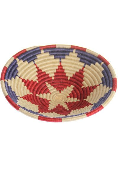 Woven Straw Bowl