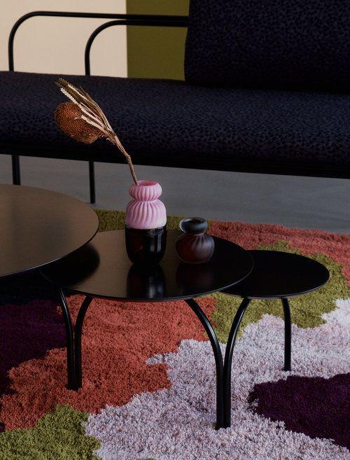 Soma table and Keto. Keto carpet is made out of collaboration with Tytti Laitakari www.tyttilaitakari.com - Studio Finna