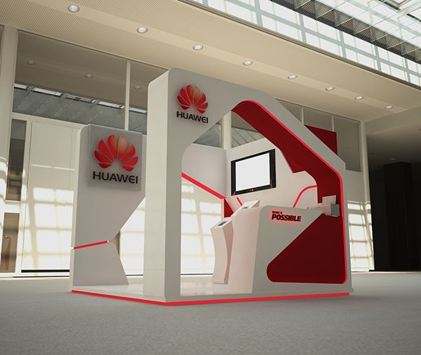 Corner Exhibition Stands Day : Huawei booth mother s day on behance exhibition