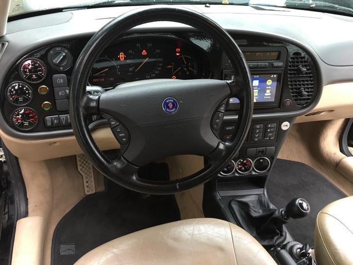 ≥ Saab 9-3 2.0 Turbo S Coupe 2000 Zwart