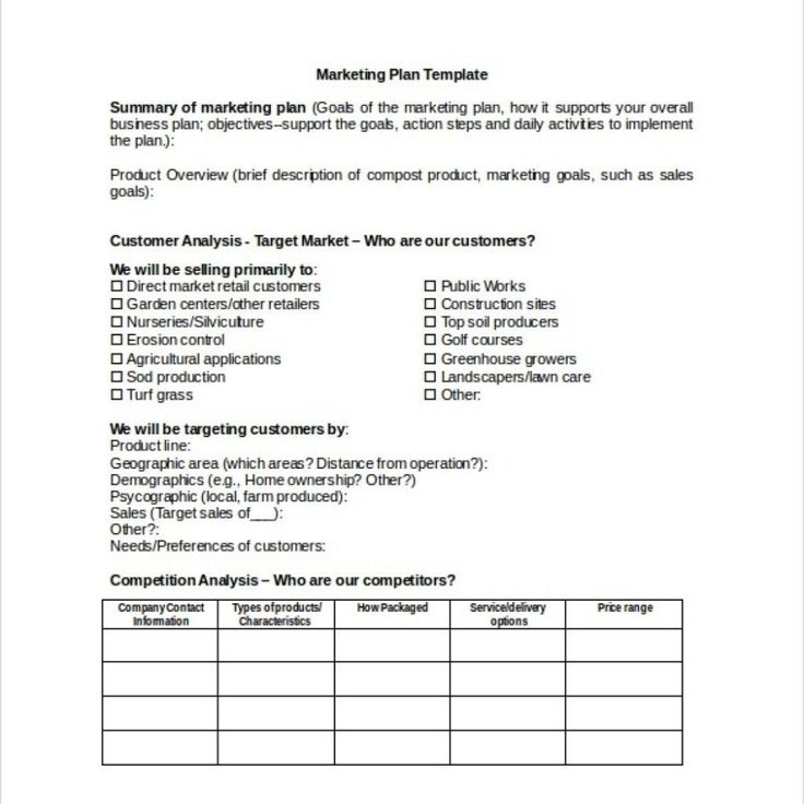 Exceptional Retail Marketing Plan Template Free Templates