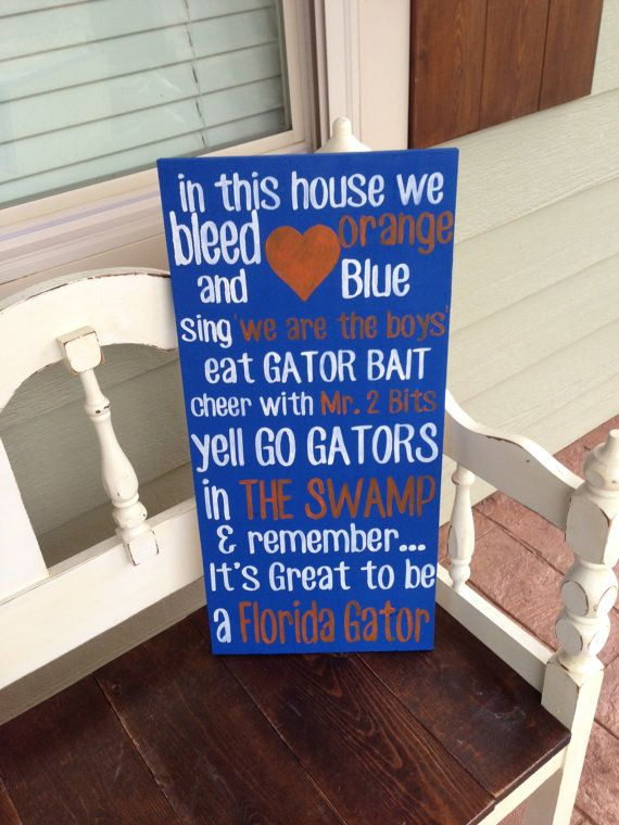 Handpainted wood College Team sign -  University of Florida Gators on Etsy, $75.00