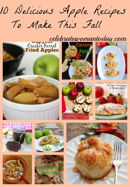 10 Delicious #Apple #Recipes To Make This Fall. #Desserts #Holidays