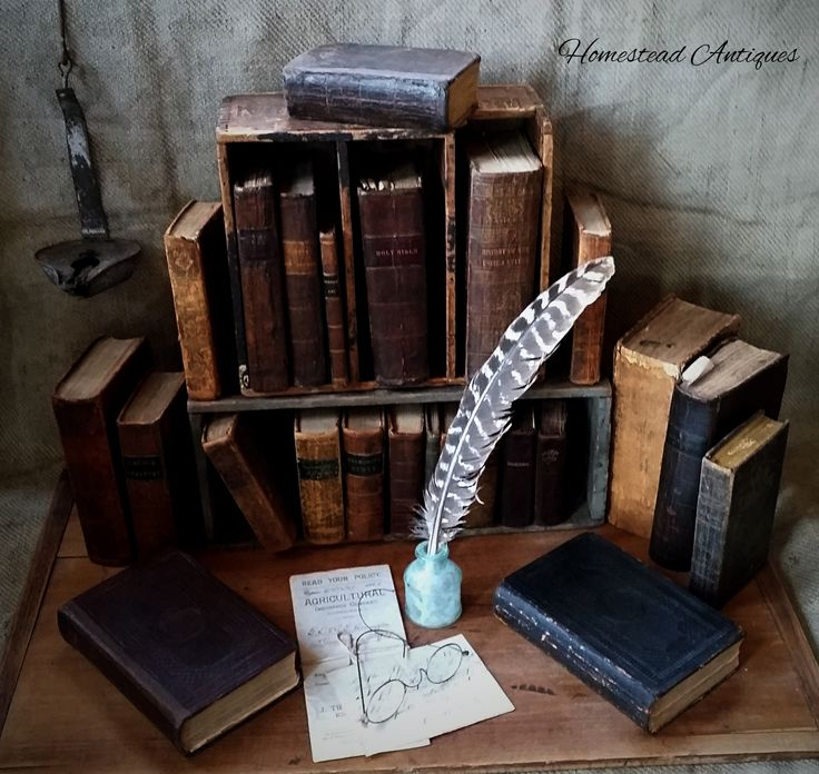 Study Room Ideas: Some People Collect Antique Leather-bound Books For Purely