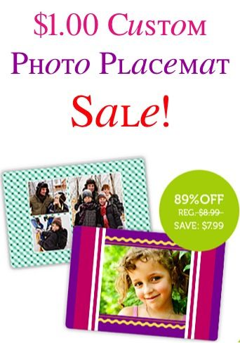 $1.00 Custom Photo Placemat Sale! {+ s/h} ~ these are SO fun for personalizing your dinner table, and make great gifts, too!