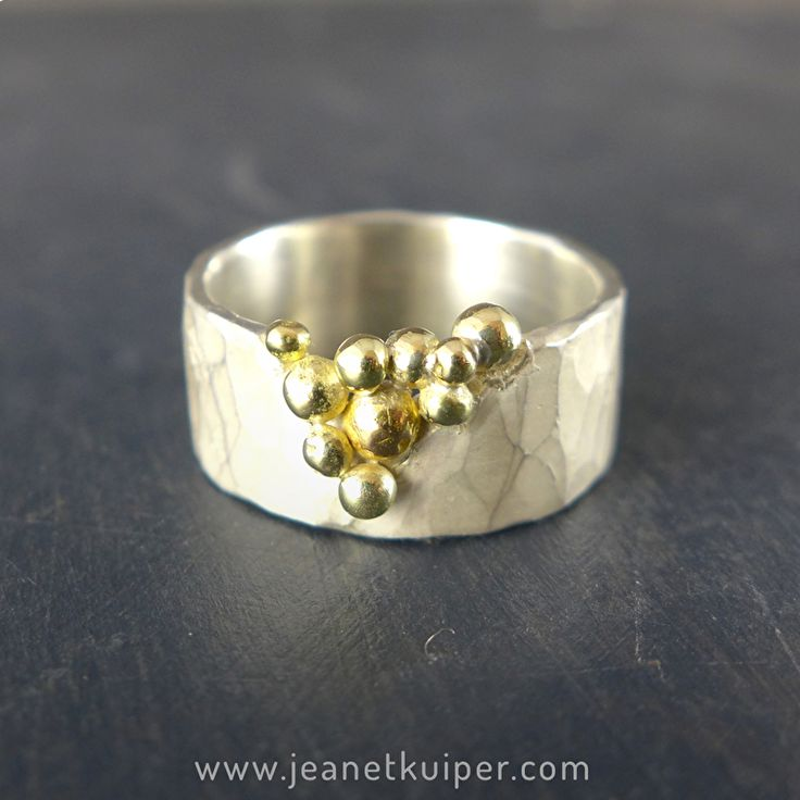 Tuilring zilver/goud www.jeanetkuiper.com