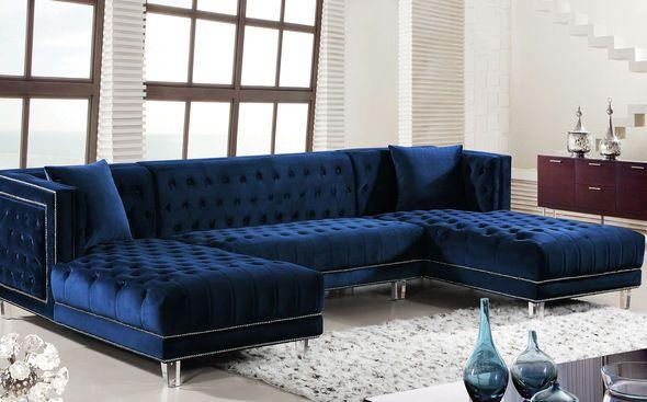 Moda Blue Sectional Sofa Blue Living Room Decor Blue Couch