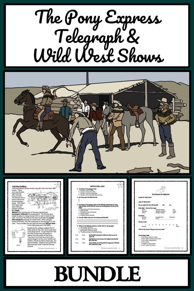 Pony Express Telegraph Wild West Show Comprehension Activities Bingo In 2020 Pony Express Lesson Fiction Reading Passages American History Lessons [ 1104 x 736 Pixel ]