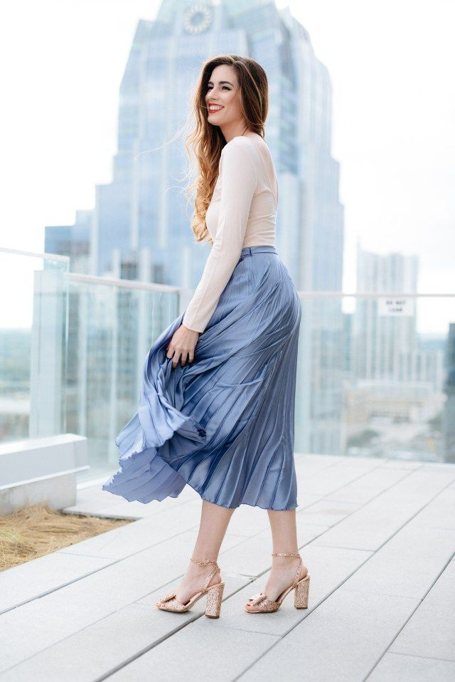 Flowy Pleated Skirt at the Westin Downtown Austin | By, Hilary Rose