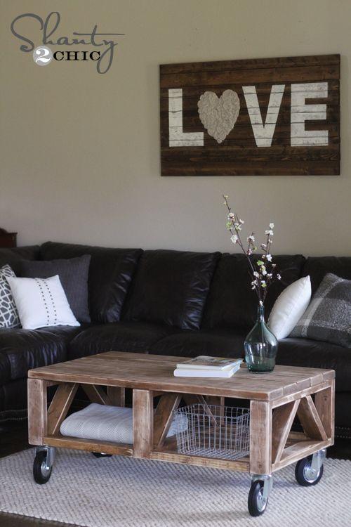 DIY Furniture: Coffee Table DIY